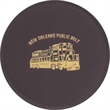 """Coasters - Customizable cowhide leather coaster with a vinyl base to prevent slipping. Round-shape, measures 4 1/4"""" in diameter."""