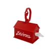 Dog House Shaped Pet Bag Dispenser - Clean-up bag dispenser shaped like a dog house that includes 10 biodegradable white waste bags.