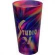 16 oz Full Color Frosted European Pilsner Glass - 16 oz Full Color Frosted European Pilsner Glass