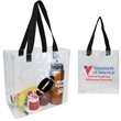Clear Open Tote with Webbed Handles - Clear PVC Tote