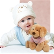 "Gund (R) Riley Stuffed Plush Dog - Stuffed toy dog with overall size 8""."