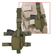 Olive Drab Deluxe Adjustable Drop Leg Tactical Holster - Blank Olive Drab polyester deluxe adjustable drop leg holster.