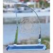 Sail Award - Optical crystal sail shaped award.
