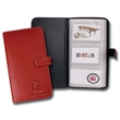 Lamis Business Card Holder - Card holder with litchi fabric construction. Holds 72 business cards.