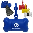 "Dog Bone Bag Dispenser - 3"" x 1 1/2"" bag dispenser that's shaped like a dog bone and has an easy clip-on attachment."