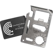 Survival Multi Tool - Credit card size survival multi tool with 15 functions and 1-color case imprint