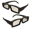3D Style Sunglasses - Black sunglasses that are in 3D style.