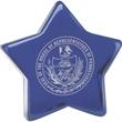 Cobalt CEO Star - Cobalt blue glass standing star award.