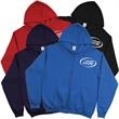 Zippered Hoodie - New 50% Cotton/50% Polyester crewneck style zippered hoodie with ribbed cuffs and waist
