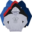 Pullover Hoodie - New 50% Cotton/50% Polyester pullover hoodie with ribbed cuffs and waist and kangaroo style pocket.