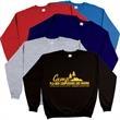 Crewneck Sweatshirt - New 50% Cotton/50% Polyester crewneck style sweatshirt with ribbed cuffs and waist.