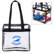 Transparent Stadium Tote Bag - Transparent tote bag which complies with the new NFL stadium regulations