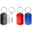 Dog Tag Key Chain - Aluminum metal dog tag with split ring.