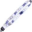 """1"""" Dye-Sublimated Lanyard w/ Plastic Clamshell & O-Ring"""
