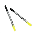 """Double Header Nylon Point Pen & Highlighter - 6 3/4"""" highlighter and pen combo with yellow, conical-tip highlighter and black nylon-point pen."""