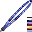 """3/4"""" Smooth Nylon Lanyard with Plastic Clamshell & O-Ring - 3/4"""" smooth nylon lanyard with plastic clamshell & O-ring."""