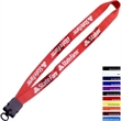 """3/4"""" Smooth Nylon Lanyard with Snap-Buckle Release & O-Ring - 3/4"""" smooth nylon lanyard with snap-buckle release & O-ring."""