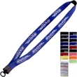 "3/4"" Neoprene Lanyard with Plastic Clamshell & O-Ring - 3/4"" Neoprene lanyard with plastic clamshell & O-ring."