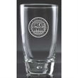 "Luna Beverage - 5.438"" tall 11.5-ounce Luna beverage drinking glass with bubble sham style base."