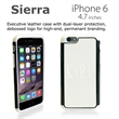 Sierra Case for iPhone 6 (White) - Sierra is our new Executive case that offers a unique leather type feel to the back of the case which debosses beautifully.