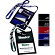 Nylon Trade Show Organizer - Trade show organizer with pen holder and 2 pockets for convenient storage on back.