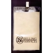 Large Vertical Vinyl Pouch with Bulldog Clip - Large Vertical Vinyl Pouch with Bulldog Clip.