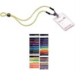 Dual-Use Power Cord Trade Show Lanyard with Slider - Dual use nylon cord trade show lanyard with adjustable locking slider.
