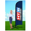 8ft Flutter Flags with X Stand-Double - 8ft Flutter Flags with X Stand-Double