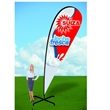 14ft Tear Drop Flag with X Stand-Double - 14ft Tear Drop Flag with X Stand-Double