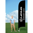 11ft Advertising Flag with Ground Stake-Double - 11ft Advertising Flag with Ground Stake-Double