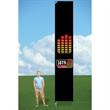 14ft Custom Flag with Ground Stake-single - 14ft Custom Flag with Ground Stake-single