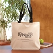 "Canvas Convention Tote - Canvas tote bag with spacious compartment and 28"" straps."
