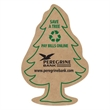 Corrugated Tree Magnet - Brown corrugated cardboard tree shaped magnet with full magnetic backing.