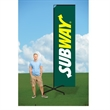 9ft Advertising Flag with X Stand-single - 9ft Advertising Flag with X Stand-single
