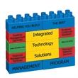 "Promo Blocks©- 13 Block Jumbo - 5"" x 3 3/4"" 13-piece jumbo promotional plastic building blocks in seven colors"