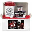 Coffee Lovers Kit A - Coffee lovers kit includes 16 oz coffee cup with lid available in 6 colors, sugar free mints and 3 coffee pods.