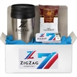 Coffee Lovers Kit 2 - Kit includes 16 oz. tumbler with plastic insert, sugar free mints, bag of fresh ground coffee.