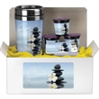 Coffee Lovers Kit C - Kit includes 16 oz tumbler with paper insert, sugar free mints, 3 coffee pods.