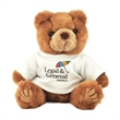 """8"""" Brown Kirby Bear with t-shirt and full color impri"""