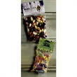 Large Heat Sealed Bag with Candy Fill - Large heat sealed bag with choice of gummy bears, fruit sours, or salt water taffy fills.