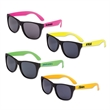 Classic Neon Sunglasses - Plastic neon sunglasses for adults in an assortment of colors.