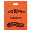 "Halloween Plastic Die Cut/Orange - Pumpkin Row - Flexo Ink - Halloween Stock Design Orange Frosted Plastic Die Cut - Pumpkin Row - Customized (12""x15""x3"") - Flexo Ink"