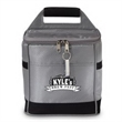 Micro Brew Six Cooler - Six pack cooler made of iridescent ripstop material with front pocket and matching key ring bottle opener.
