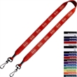 "3/4"" Polyester Double Ended Swivel Snap Hook Lanyard - Polyester double ended swivel snap hook lanyard, 3/4""."