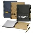 Eco Handy Jotter with Pockets and Pen Combo - Handy jotter with pockets and pen combo.