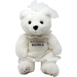 """8"""" Bride Bear with one color imprint"""