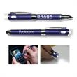 3-in-1 Smooth Stylus Flashlight Pen - 3-in-1 power pen with power bank, stylus and ballpoint pen. Works with all phones and tablets.
