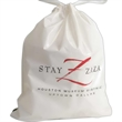 """Hotel Bags - Poly-draw hotel bag made of 1.25 mil low density polyethylene that measures 12"""" x 16"""" x 4"""""""