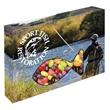 Customizable Fish Box Packaging with Jelly Beans Candy - Jelly Beans candy in custom fish die cut boxes and packaging.