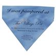 "Custom woven pet collar bandana - 6.5"" x 7.5"" triangular polyester pet bandana that's made in the USA and customizable."